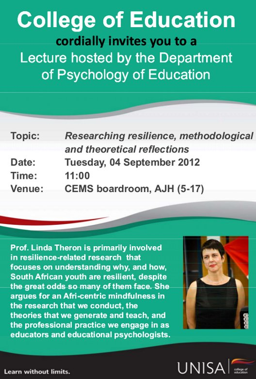 Lecture on researching resilience
